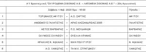 20h agwnistikh